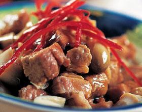 白果炒牛肉
