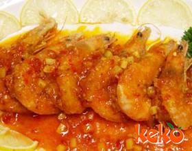 黄焖带皮虾