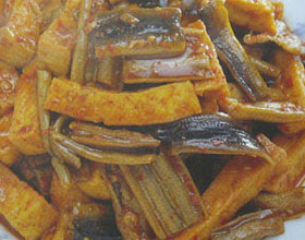 红烧豆腐鳝段
