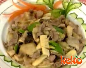 芽姜炒鸭片