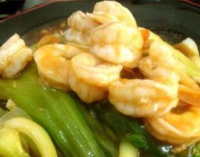 虾仁扒油菜