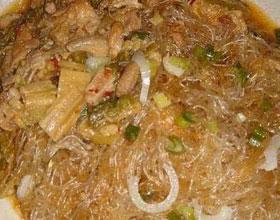 酸菜粉炒肉丝